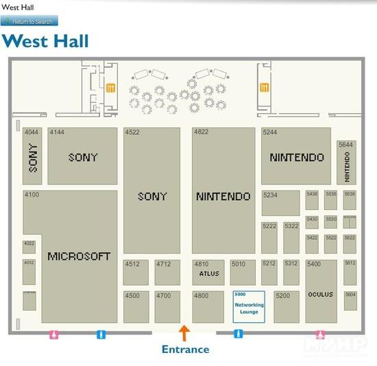 E3 2015展位分布图公布 三巨头雄霸西厅