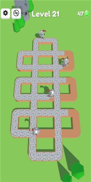 人类彩绘道路